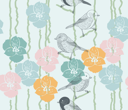 Seamless natural pattern Vector eps10 Stock Illustratie