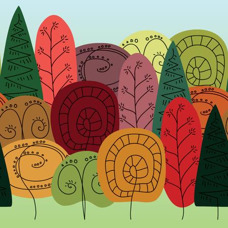 patrón de los árboles coloridos del vector