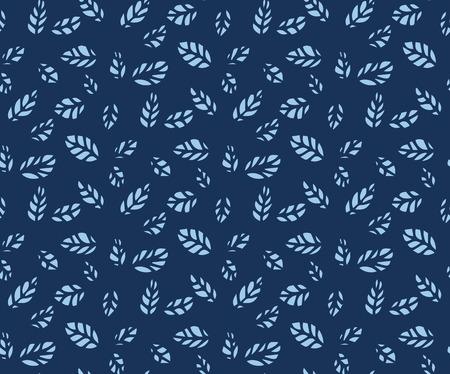 azure: Seamless pattern of modern elegant design azure leaf silhouette