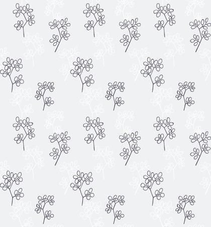 romance: Seamless pattern of romance design purple flower silhouette