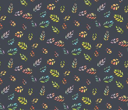 diminuto: Seamless patr�n de colorido diminuta silueta de la hoja