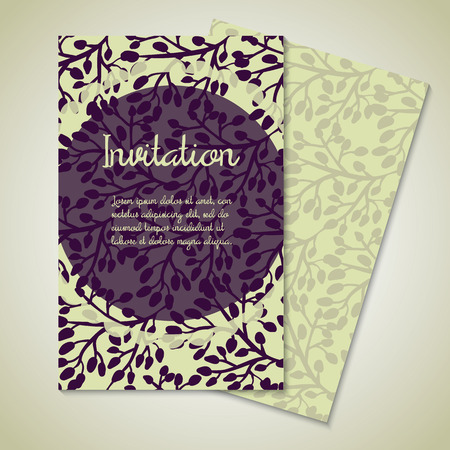 Vintage card templates for wedding invitation