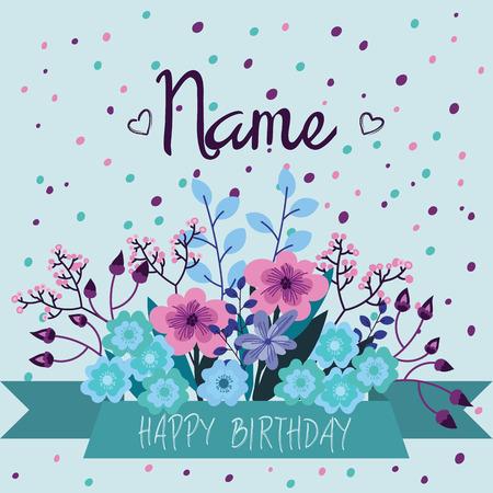 Blue, pink, purple card templates for wedding invitation