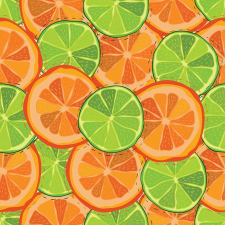 Kleur citrus sappig fruit van grapefruit, limoen naadloos patroon
