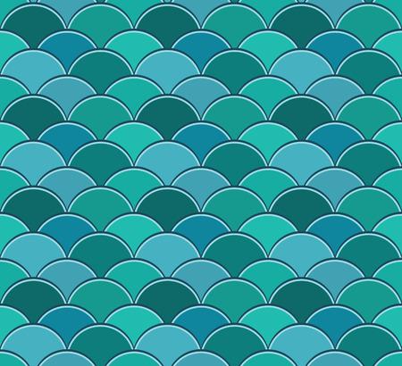 Naadloos patroon van halve cirkels in squama stijl