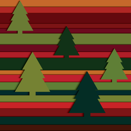 firtree: Colorful seamless pattern with fir-tree Vector eps10