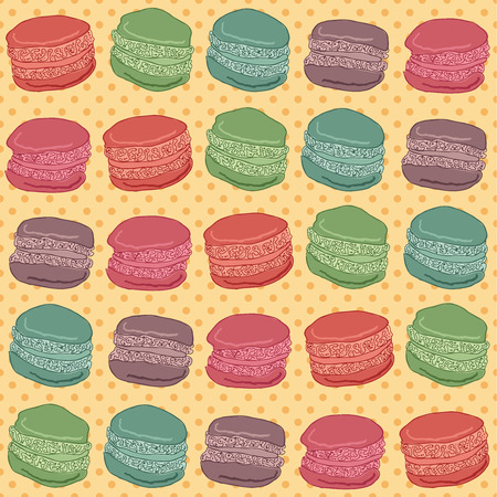 Seamless pattern of macaroons Vector eps10