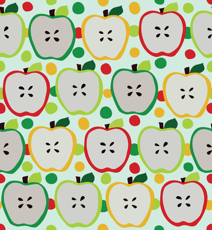 Seamless apple pattern Vector eps10 Illustration