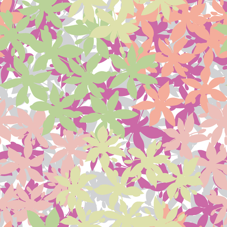 Seamless pattern of flower Vector eps 10 Illustration