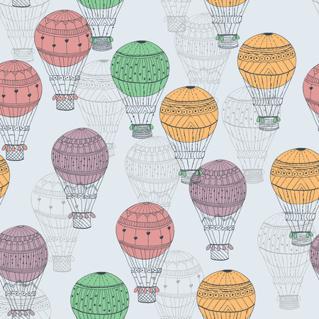 Seamless pattern aerostat Vector eps10 Illustration