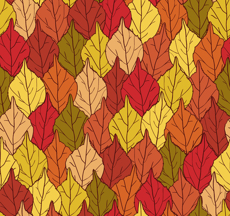 Seamless autumn autumn Vector eps10