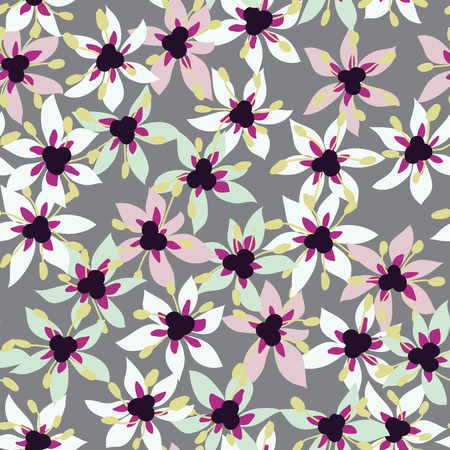 Seamless pattern of onion flower Vector eps 10