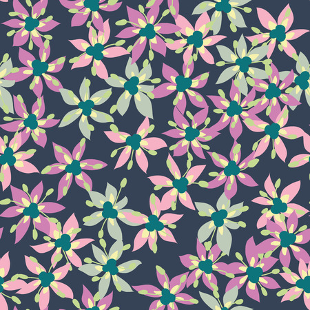 Seamless pattern of colorful flower Vector eps 10