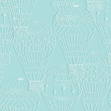 aerostat: Seamless pattern paper aerostat Vector eps10 Illustration