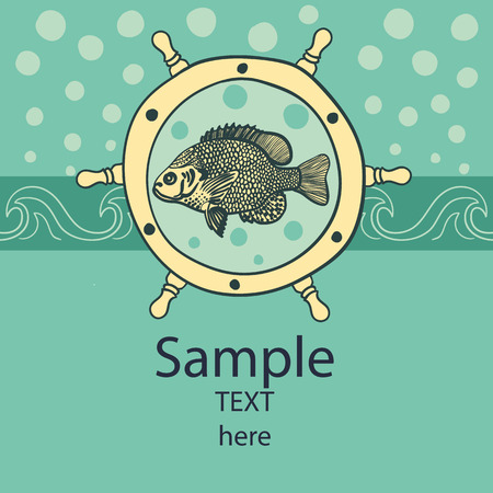 Fish card Vector eps 10