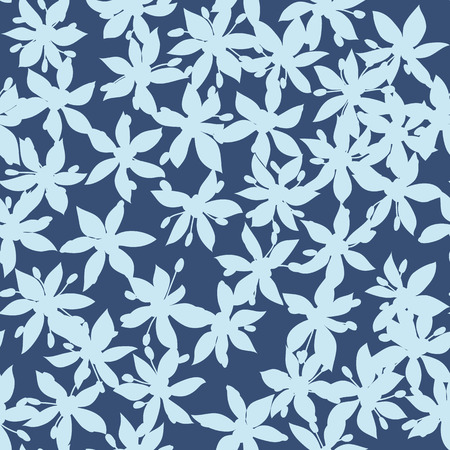 Seamless pattern of blue flower Vector eps 10