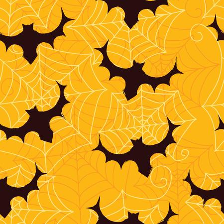 Naadloos patroon voor kaart, uitnodiging, papier, plakboek, verpakking, achtergrond, textuur. Halloween-achtergrond met knuppels Vectorillustratie eps 10 Stock Illustratie