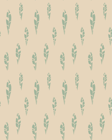Seamless pattern of modern design tiny pastel leaf silhouette