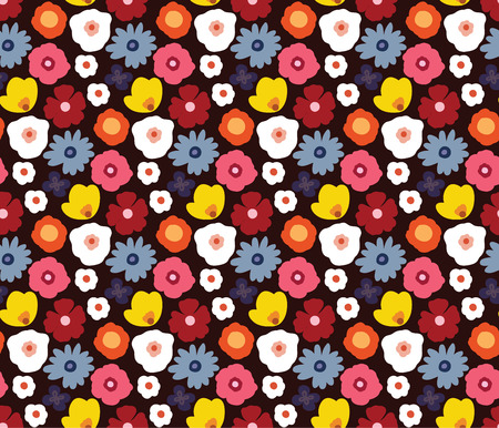 Beauty and elegance seamless pattern of modern design bright flowers