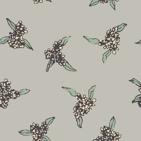 Seamless vintage pattern of elegant cute flower, design for textile