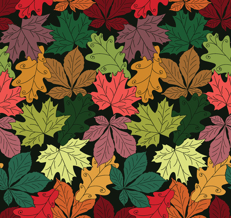Seamless pattern foliage illustration Illustration