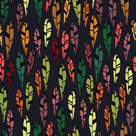 Seamless pattern of modern design colorful tiny leaf silhouette Illustration