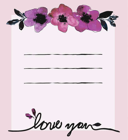 Watercolor card templates