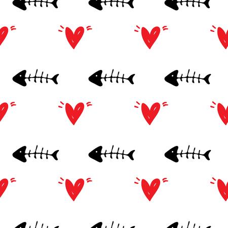 Seamless pattern Pet background illustration