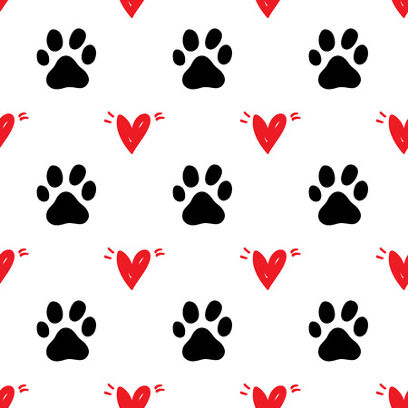 Seamless pattern pet background illustration Illustration