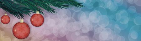 Kerstboom tak met een stuk speelgoed Vector illustratie