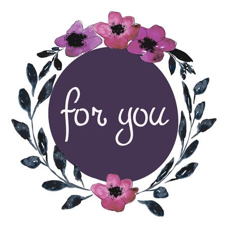 Het roze en groene malplaatje van de aquarel voor huwelijksuitnodiging, sparen de datumkaarten