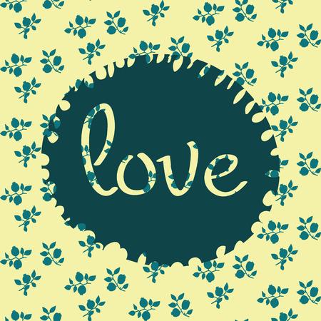 Schoonheid en elegantie naadloze patroon heldere bloemen voor textiel, papier, wrap, plakboek, achtergrond, uitnodiging, kaarten met inscriptie hou van je vectorillustratie