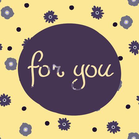Schoonheid en elegantie naadloze patroon heldere bloemen voor textiel, papier, omslag, plakboek, achtergrond, uitnodiging, kaarten met inscriptie voor u vectorillustratie