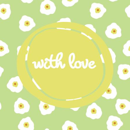 Schoonheid en elegantie naadloze patroon heldere bloemen voor textiel, papier, omslag, plakboek, achtergrond, uitnodiging, kaarten met inscriptie met u vectorillustratie
