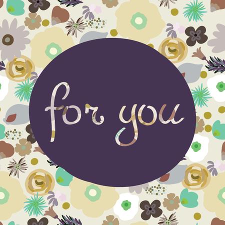 Beauté et élégance seamless pattern fleurs brillantes pour textile, papier, enveloppement, scrapbook, fond, invitation, cartes avec Inscription pour vous Illustration vectorielle Banque d'images - 82805963