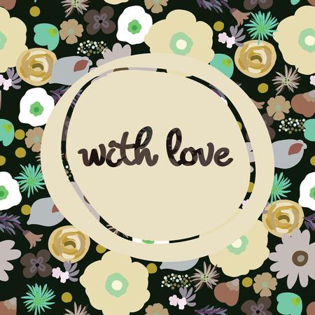 Schoonheid en elegantie naadloze patroon heldere bloemen voor textiel, papier, omslag, plakboek, achtergrond, uitnodiging, kaarten met inscriptie met u vectorillustratie Stockfoto - 82805964