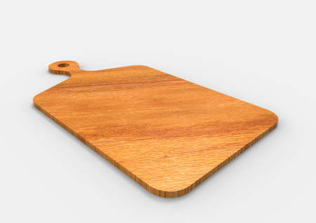 3D Rendering Wood Cutting Board Isolated Banco de Imagens