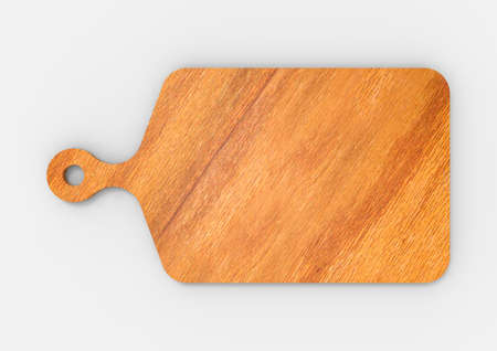 3D Rendering Wood Cutting Board Top View Isolated
