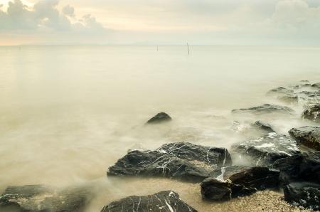 Kuala Perlis playa Malasia ... Foto de archivo