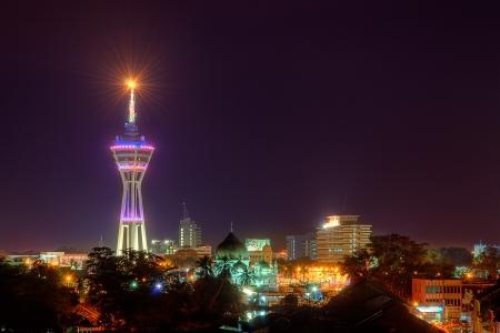 Este es el paisaje urbano de Alor Star Malasia.