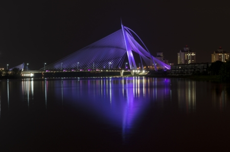 This image is taken at Putrajaya on sunset. The image shows the putraja bridges of malaysia. photo
