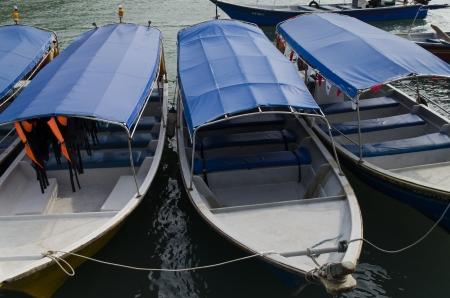 El barco que ha sido el parque por los pescadores Foto de archivo
