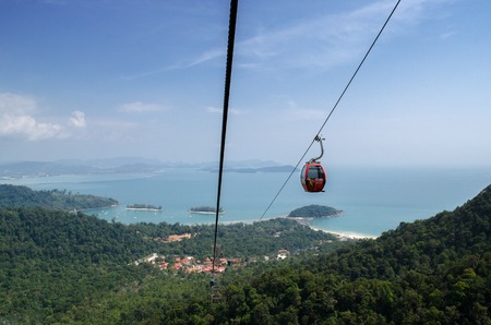 langkawi island: Cable Car of Langkawi Island view from top level