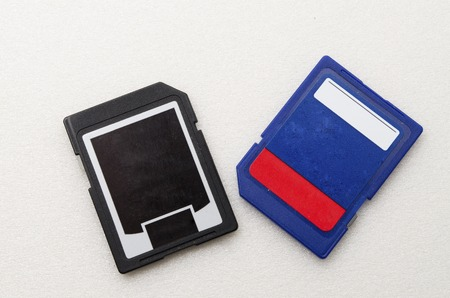 micro drive: SD Memory Card with Black and blue colour. Shoot in white background. All of the information has been removed.