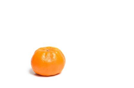 halved  half: Fresh Orange on white background