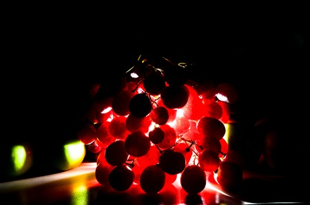 res: Res Grapes shoot with backlight Stock Photo
