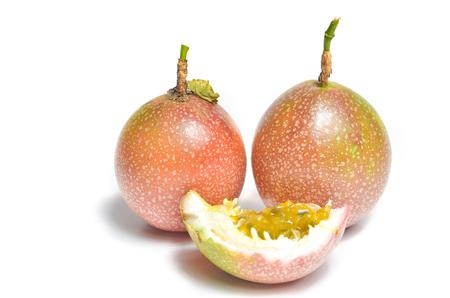 Fresh Passionfruit on white background