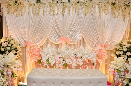 Bridal Dais of Malaysian Tradition in Wedding Ceremony. The must have culture in Malay Tribe in Malaysia.