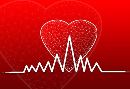 Heart Shape with heart beat symbol