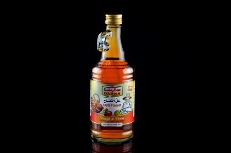 Kedah, Malaysia - February 09, 2017: Darna apple cider vinegar is a product from Lebanon that has been exported to most of the world market. Stock Photo